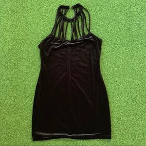 H&M velvet Black Mini dress size M